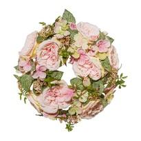 Romantyczny wieniec sztuczny Róże, śr. 32 cm