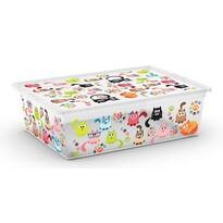 KIS Dekoračný úložný box C-Box Style L Cute Animals, 27 l