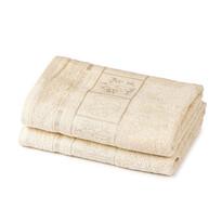4Home Ručník Bamboo Premium krémová, 50 x 100 cm, sada 2 ks