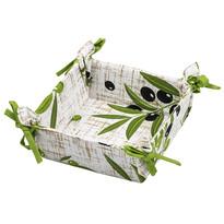 Textilný košík Olivy, 34 x 34 cm