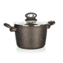Banquet Garnek z powierzchnią nieprzywierającą Premium Dark Brown 20 cm, z pokrywką