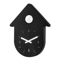 Koziol Nástenné hodiny Toc-Toc, čierna