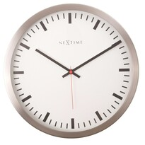 Nextime 2520 Stripe White nástěnné hodiny