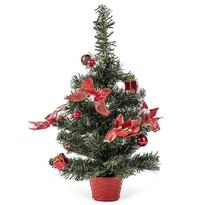 Vianočný stromček zdobený červená