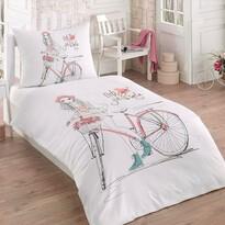 Pościel bawełniana Bicycle 3D Exclusive, 140 x 200 cm, 70 x 90 cm