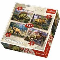 Trefl Puzzle Dinosauři, 4 ks