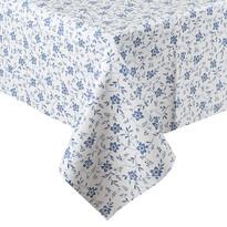 Obrus vinylový Kvet modrá, 140 x 160 cm