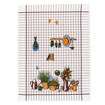 Kuchynská utierka záhradka, 50 x 70 cm