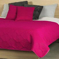 4Home Přehoz na postel Doubleface růžová/šedá, 240 x 220 cm, 2x 40 x 40 cm