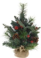 Brăduț de Crăciun artificial împodobit 33 cmverde,
