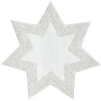 Sander Dekorační ubrus Illusion hvězda krémová, pr. 28