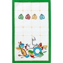 Kuchyňská utěrka Hrnečky, 40 x 70 cm