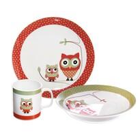 Orion Bagoly 3-részes étkészlet gyermekek számára, porcelán