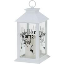 Vánoční lucerna Winter Days bílá, 28,5 cm