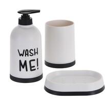 Komplet łazienkowy Wash Me biały, 3 szt.