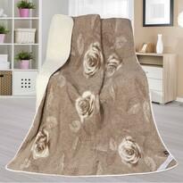 Vlněná deka Evropské merino DUO Růžička, 155 x 200 cm