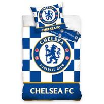 Obliečky Chelsea FC Check, 140 x 200 cm, 70 x 80 cm