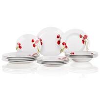 Banquet Red Poppy 18-częściowy zestaw talerzy