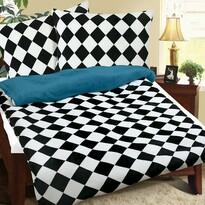 Lenjerie de pat din micro-flanelă Tablă de şah, 140 x 200 cm, 70 x 90 cm