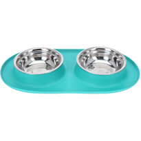 Podwójna miska dla psa Bowl, niebieski
