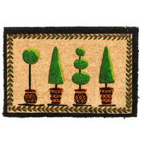 Kokosová rohožka Strom v květináči, 40 x 60 cm