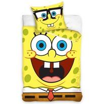Dziecięca pościel bawełniana SpongeBob, 140 x 200 cm, 70 x 80 cm