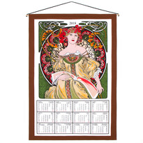 Textilní kalendář 2018 Alfons Mucha, 45 x 65 cm