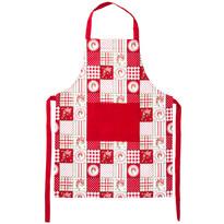 Fartuch kuchenny Country patchwork czerwony, 60 x 80 cm