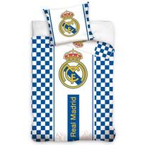 Bavlněné povlečení Real Madrid Check, 140 x 200 cm, 70 x 80 cm