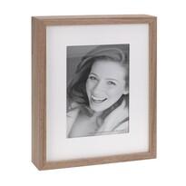 Fotorámček Wood, biela + hnedá