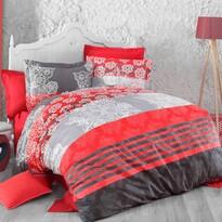 Delux Stripes pamut ágyneműhuzat piros