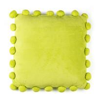 Vankúšik Pompon zelená, 45 x 45 cm