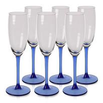 Set din 6 pahare Blue, de şampanie,180 ml