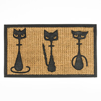 Wycieraczka 3 koty cienka, 40 x 70 cm