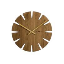 Zegar dębowy Vlaha brązowy, śr. 32,5 cm