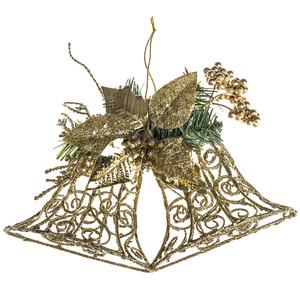 Nástenná dekorácia zvony 30 cm, zlatá