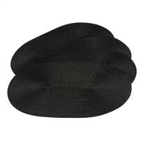 Podkładki na stół Deco owalne czarne, 30 x 45 cm,černá