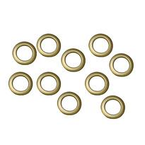 Kroužky na závěsy matná zlatá, sada 10 ks