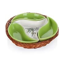 Banquet 4-częściowa miska do serwowania Olives  w koszyku