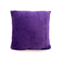 Polštářek Mikroplyš New tmavě fialová, 40 x 40 cm