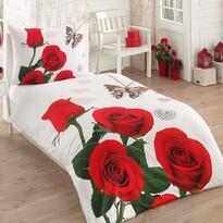 Bavlnené obliečky Red Roses 3D Exclusive, 140 x 200 cm, 70 x 90 cm
