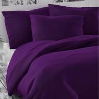 Saténové povlečení Luxury Collection tmavě fialová