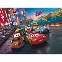 Fototapeta dziecięca XXL Zygzak McQueen i przyjaciele 360 x 270 cm, 4 części