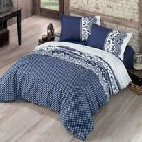 Bavlněné povlečení Canzone modrá, 200 x 200 cm, 2 ks 70 x 90 cm