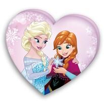 Polštářek Srdce Ledové království Frozen, 32 x 36 cm