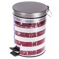Kosz na śmieci z flagą USA