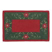 Vánoční ubrus Hvězda červená, 30 x 45 cm