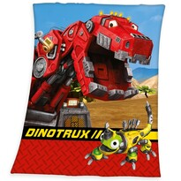 Koc dla dzieci Dino Trux, 130 x 160 cm