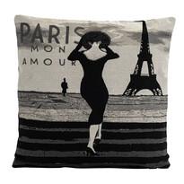 Povlak na polštářek Gobelín žena v Paříži, 45 x 45 cm