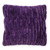 Obliečka na vankúšik chlpatá prešívaná fialová, 45 x 45 cm